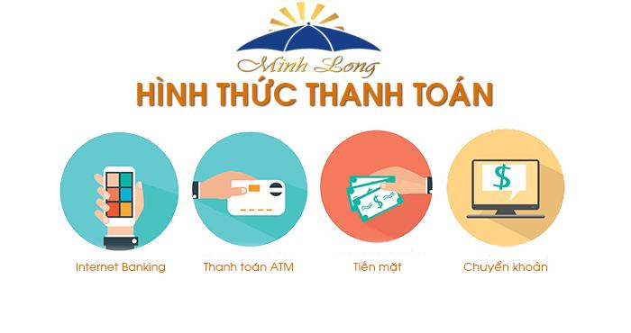 Hướng dẫn thanh toán dù quảng cáo Minh Long